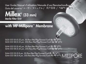 Millex® (33 mm) with MF-Millipore™ Membrane - Biocenter