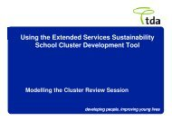 The Cluster review session - Northumberland Extended Services