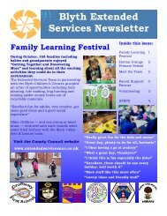 Blyth Extended Services Newsletter - Northumberland Extended ...