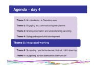 Agenda – day 4 - Northumberland Extended Services