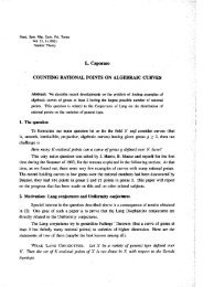 Counting rational points on algebraic curves. - Dipartimento di ...