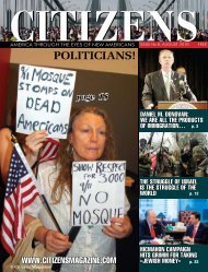 POLITICIANS! - support citizens magazine