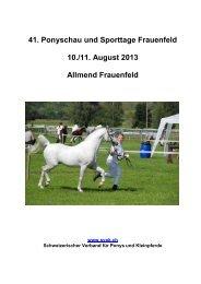 Zeitplan Sonntag, 11. August 2013 - SVPK