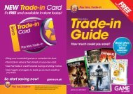 Trade-in price guide - Game