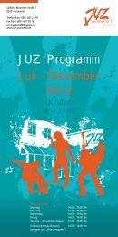 JUZ Programm Juli - Dezember 2012 - Jugendzentrum Grünwald