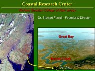 Introduction to the Coastal Research Center and ... - Stockton College