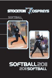 Guide_Softball guide.indd - Stockton College
