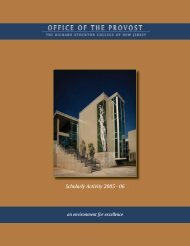 Scholarly Activity Report 2005 - 2006 - Stockton College