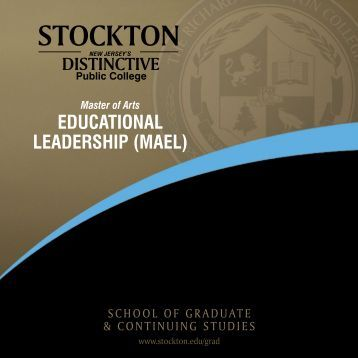 Master of Arts in Educational Leadership (MAEL) - Stockton College