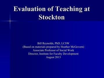 Interpreting IDEA - Stockton College