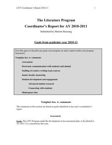 The Literature Program - Richard Stockton College of New Jersey