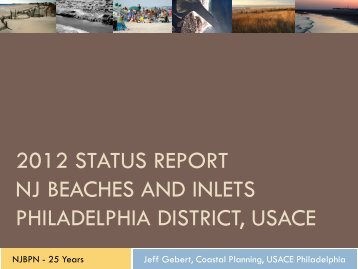 2012 status report nj beaches and inlets philadelphia district, usace