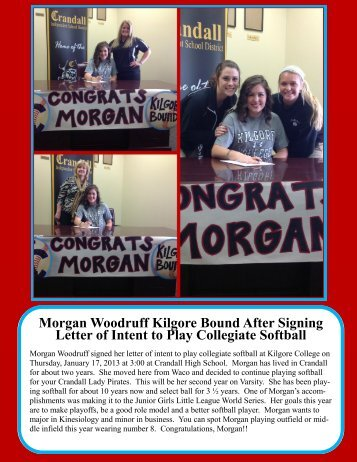 Morgan Woodruff Kilgore Bound After Signing Letter of Intent to Play ...