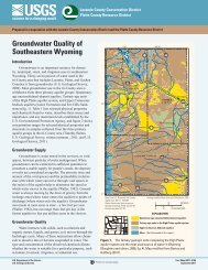 Groundwater Quality of Southeastern Wyoming - USGS