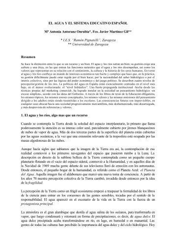EL AGUA Y EL SISTEMA EDUCATIVO ESPAÑOL Mª ... - Grupo.us.es