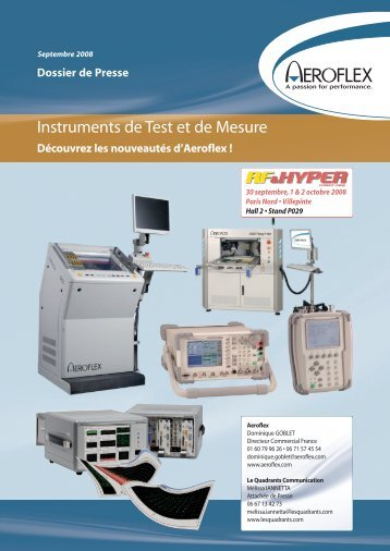 Instruments de Test et de Mesure - Les Quadrants Communication