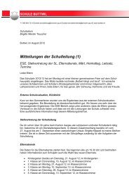 Mitteilungen Schulleitung August 2012
