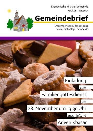 Gemeindebrief - Evangelische Michaelsgemeinde Wieseck