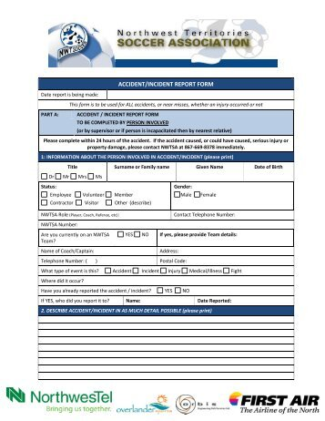 Employee Accident  Incident Report Form