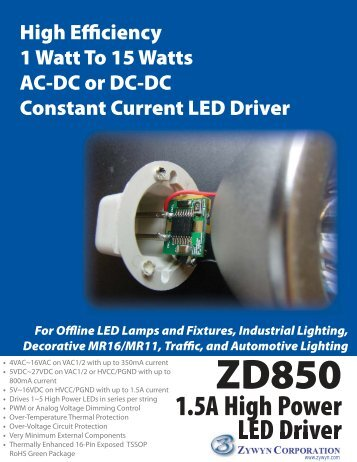 1.5A High Power LED Driver - Alcom