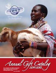 Annual Gift Catalog - International Disaster Emergency Service