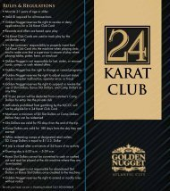 KARAT CLUB - Golden Nugget