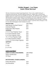 Audio Visual Services - Golden Nugget