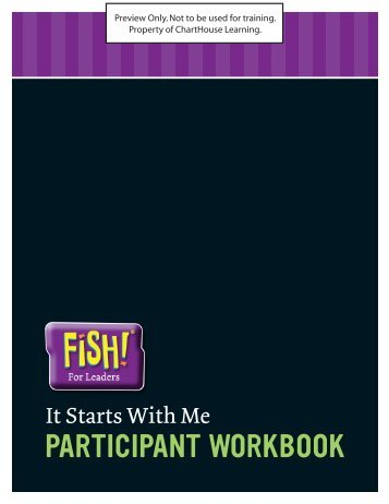 It Starts With Me - Participant Workbook - Enterprise Media