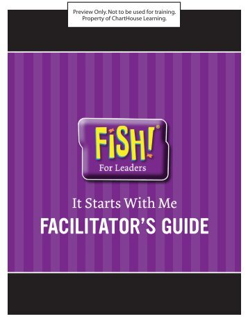 It Starts With Me - Facilitator's Guide - Enterprise Media