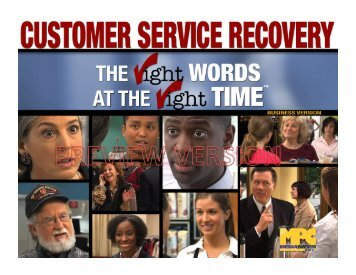 Customer Service Recovery