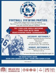 Football Viewing partieS - Golden Nugget