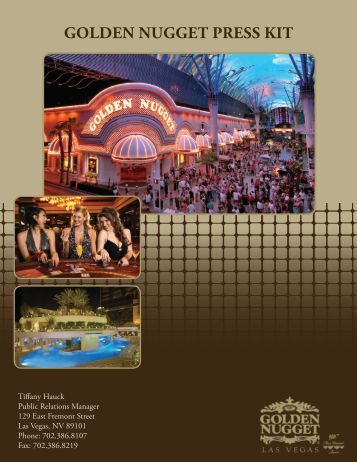 golden nugget press kit - updated december 2010