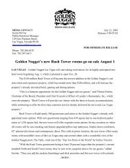 Golden Nugget's new Rush Tower rooms go on sale August 1