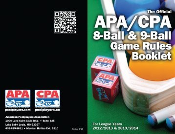 Revised 3/12 - American Poolplayers Association