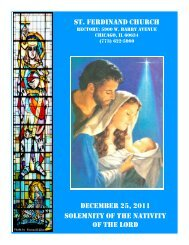 st. ferdinand church december 25, 2011 solemnity of the nativity of ...