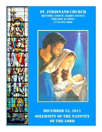 st. ferdinand church december 25, 2011 solemnity of the nativity of ...