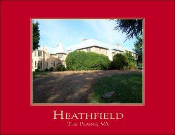 Heathfield Brochure.indd - Frank Hardy Inc.