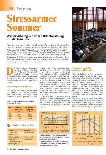 Wasserkühlung reduziert Hitzebelastung im Milchviehstall