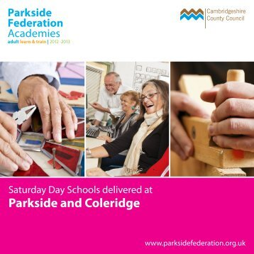 Parkside and Coleridge - Adult Learn and Train - Parkside Federation