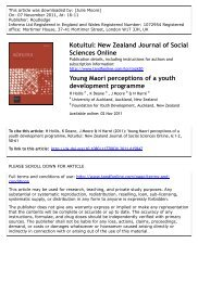 Young Maori perceptions of a youth development programme