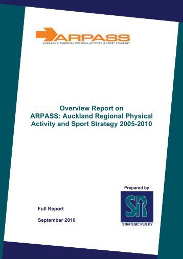 Overview Report on ARPASS - Sport and Recreation Knowledge ...
