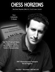 Vigorito on Chess - The Massachusetts Chess Association