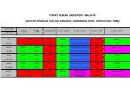 pusat sukan universiti malaya (waktu operasi kolam renang ...
