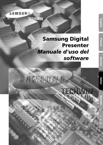 Samsung Digital Presenter Manuale d'uso del software - Medium