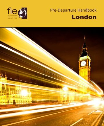 FIE Pre-Departure Handbook - Foundation for International Education