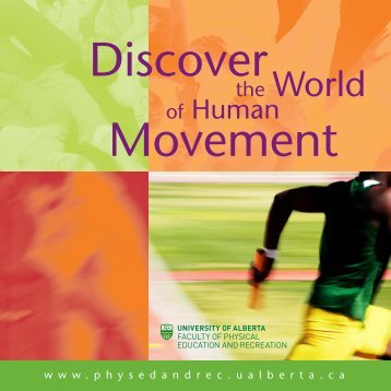 Download the PDF - Faculty of Physical Education - University of ...