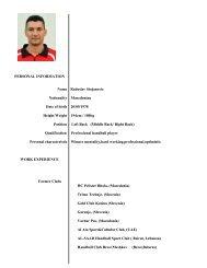 PERSONAL INFORMATION Name Radoslav ... - Middle Back