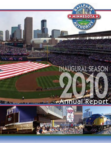 2010 Annual Report - the Minnesota Ballpark Authority