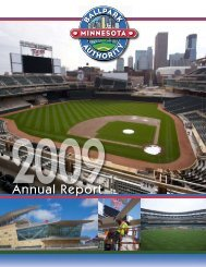 2009 Annual Report - the Minnesota Ballpark Authority