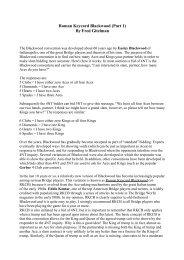 Roman Keycard Blackwood (Part 1) By Fred Gitelman - Claire Bridge